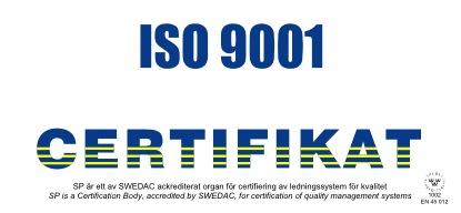 Сертификат IS0 9001
